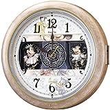 セイコークロック Disney (ディズニータイム) 掛け時計 ミッキー&フレンズ 電波時計 ツイン・パ FW561A