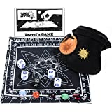 Cosmic Wimpout Deluxe Travel'n Game _ with BLACK Cloth Scoreboard _ bonus 5 glass gemstone markers