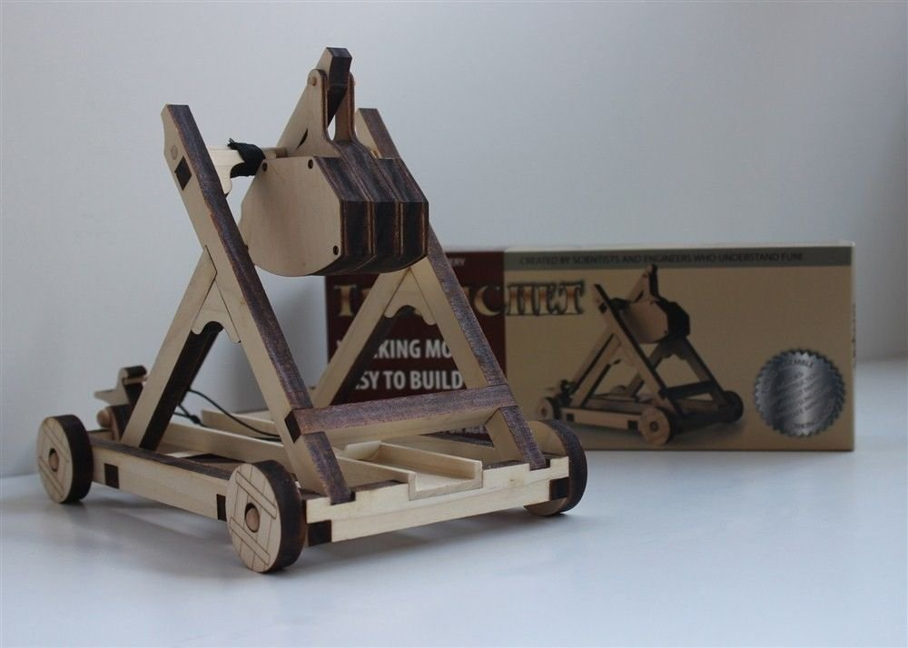 Amazon.com: Catapult Kit - Build Your Own Wooden Mini Medieval ...