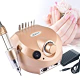 30000RPM Nail Drill, Electric Professional Manicure Nail Drill Machine for Acrylic Gel Nails, Manicure Pedicure, Nail File Polisher Kit with Foot Pedal and Drill Bit (Tamaño: big)