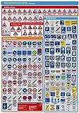 Lernposter Verkehrszeichen: Die Verkehrszeichen in Deutschland auf einem Poster, unterteilt nach...