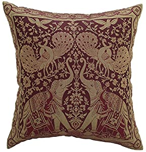 avarada india style elephant peacock throw pillow cover decorative sofa couch cushion cover. Black Bedroom Furniture Sets. Home Design Ideas