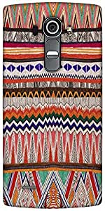 Snoogg Fabric Aztec Designer Protective Back Case Cover For LG G4