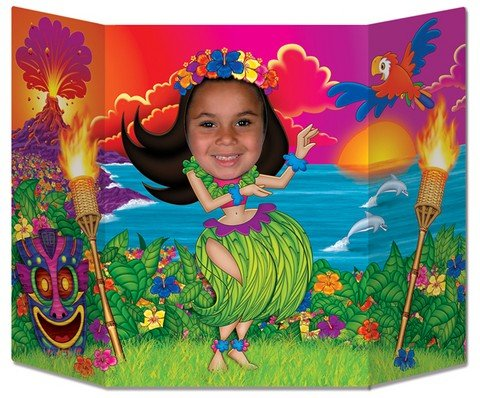 Hula Girl Photo Prop Party Accessory (1 count) (1/Pkg)