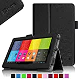 """Fintie ProntoTec 7"""" Android 4.4 KitKat Tablet PC / ProntoTec Q8 / ProntoTec Axius Series Pro 7 / ProntoTec Axius Series Q9 / Q9S 7 Inch Android 4.4 Tablet PC Folio Case - Premium PU Leather Stand Cover with Stylus Loop, Black"""
