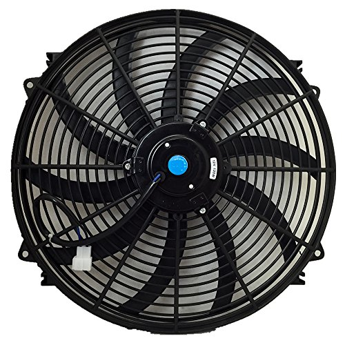 Upgr8 Universal High Performance 12V Slim Electric Cooling Radiator Fan With Fan Mounting Kit (16 Inch, Black) (Automotive Cooling Fan compare prices)