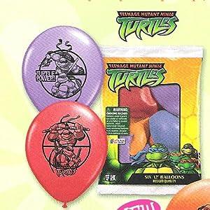 Teenage Mutant Ninja Turtles Party Balloons - 6 Count - TMNT Party Balloons