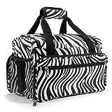 Healthcom Lady Makeup Bag Cosmetic Bag Fashion Zebra Pattern Women Portable Toiletry Bags Travel Storage Organizer