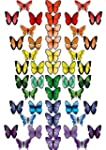 48 X PRE-CUT RAINBOW MIX BUTTERFLY ED...