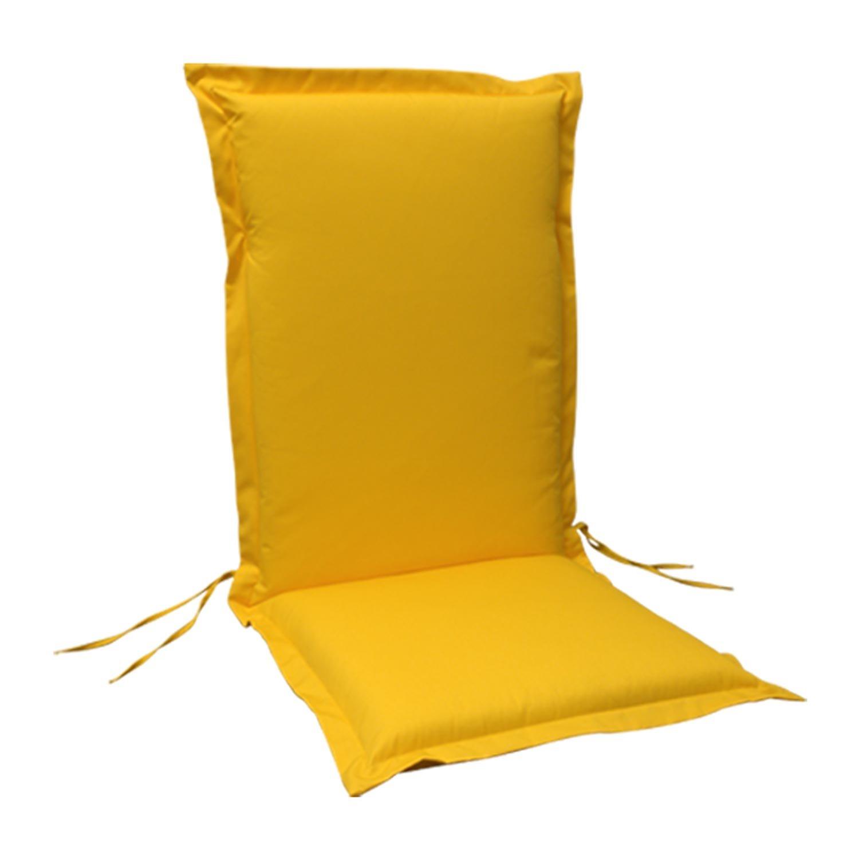 indoba® IND-70442-AUHL-6 - Serie Premium - Gartenstuhl Auflage - Hochlehner, extra dick, Gelb - 6 Stück