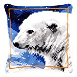 Vervaco Polar Bear Cross Stitch Cushion Multi Colour