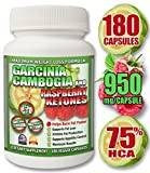 Garcinia Cambogia NO CALCIUM with Raspberry Ketones & Potassium for MAXIMUM ABSORPTION & WEIGHT-LOSS - 75% HCA - 5700mg/day