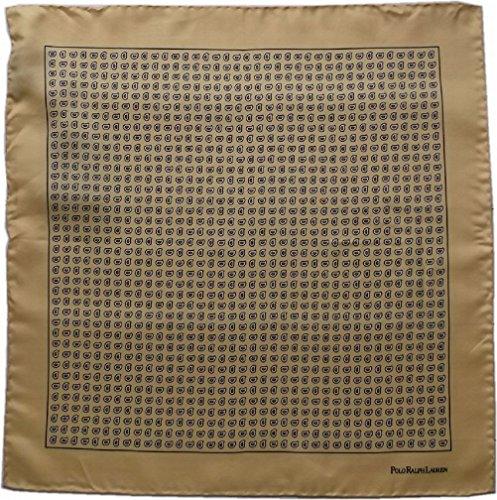 (ポロ ラルフローレン) ポケットチーフ イタリア製 シルク ペイズリー イエロー Polo Ralph Lauren CHIEF 464 [並行輸入品]