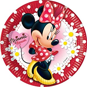 10ct Minnie Mouse Polka Dot 9in Paper Plates from Amscan