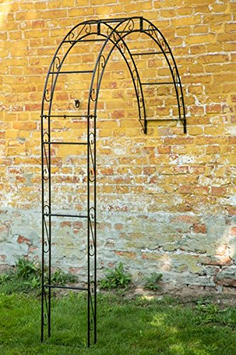 wand rosenbogen schwarz 12mm massiveisen b 160cm wandrosenbogen. Black Bedroom Furniture Sets. Home Design Ideas