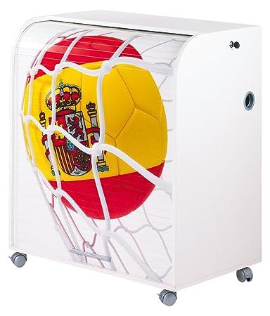 Simmob MUST095BL910 Espagne 910 Ballon Coupe du Monde Meuble Informatique Bois Blanc 53,2 x 79,2 x 93,8 cm