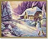 Schipper 609130504 - Malen nach Zahlen - Der Winter, 40x50 cm von Noris