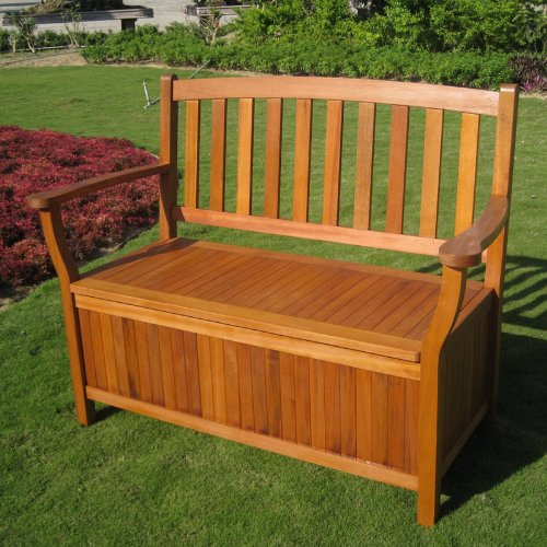 International Caravan Royal Tahiti Two Seat Patio Bench with Storage Trunk