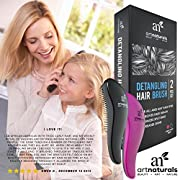 Art Naturals Detangling Hair Brush Set (Pink & Black) - glide the Detangler through Tangled hair - Best Brush / Comb for Women, Girls, Men & Boys - Use in Wet and Dry Hair - Top Detangling Brush