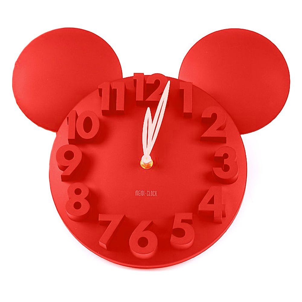 Big Red Mickey Mouse Wall Clock Gift for Disney Lovers