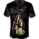 Bob Marley Arm Up Men's T-Shirt (Black) #11 (Mens Large) (Color: Black, Tamaño: Large)