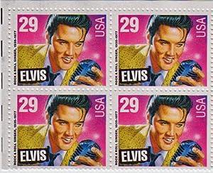 1993 ELVIS PRESLEY #2721 Block of 4 x 29 cent US Postage Stamps