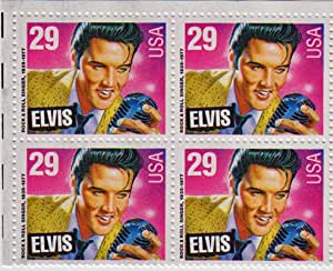 1993 ELVIS PRESLEY #2721 Block of 4 x 29 cent US Postage Stamps