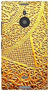 The Racoon Lean printed designer hard back mobile phone case cover for Nokia Lumia 1520. (golden int)