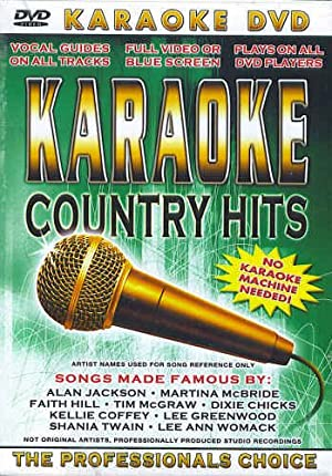 Karaoke Country Hits (DVD) No Karaoke Machine Needed!