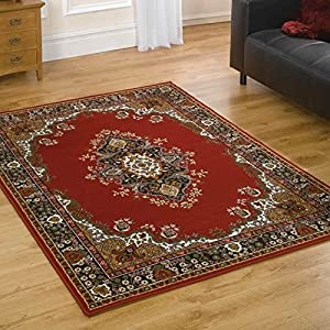 Flair Rugs Element Lancaster Traditional Rug, Red, 280 x 365 Cm by Flair Rugs