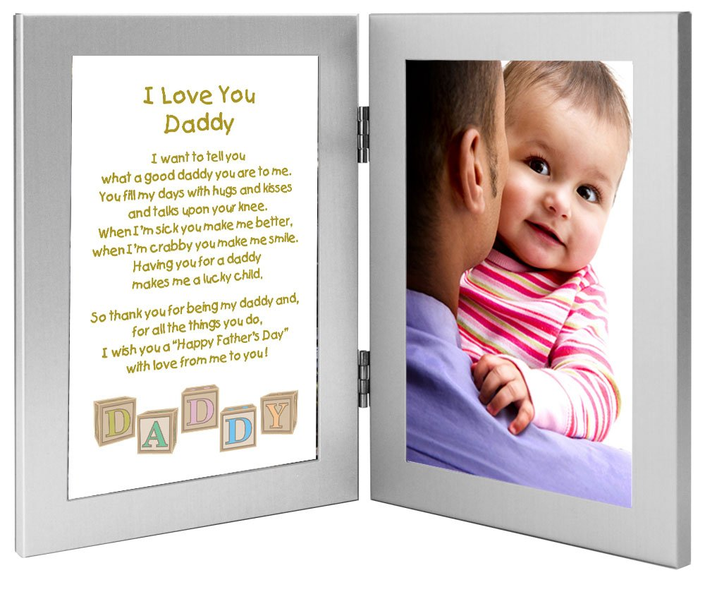 daddy fathers day frame gift for daddy from son or daughter poem in double