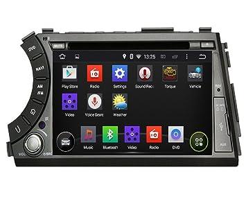7 pouces Quad Core Cortex A9 1.6G CPU Android 4.4.4 stéréo de voiture pour Ssangyong Actyon Sports 2005 2006 2007 2008 2009 2010 2011 2012 2013,1024x600 écran tactile capacitif avec 16G flash et 1G de RAM DDR3 GPS Navi Radio Lecteur D