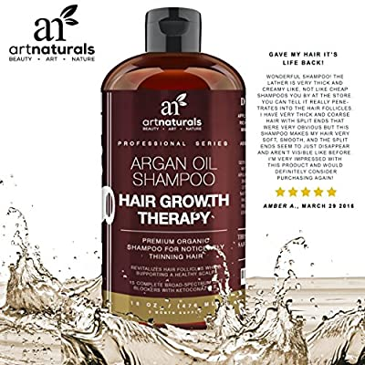 Best Cheap Deal for Art Naturals Organic Argan Oil Hair Loss Shampoo for Hair Regrowth 16 Oz - Sulfate Free - Best Treatment for Hair Loss, Thinning & - Growth Product For Men & Women - Infused with Biotin - 2016 by ArtNaturals - Free 2 Day Shipping Avail