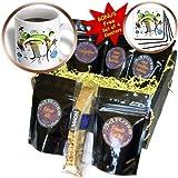 cgb_30045_1 Rewards4life Gifts - Funky Headphones Blue - Coffee Gift Baskets - Coffee Gift Basket