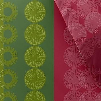 Bettwäsche 200x220 Baumwolle Trend Dafina Grün Pink Ihre