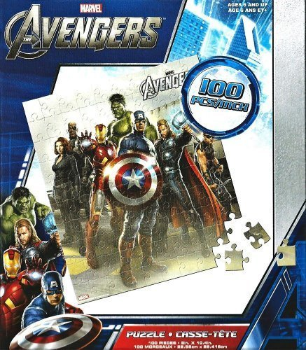 Marvel Avengers Puzzles Thor, Hawkeye, Captain America 100 piece Jigsaw by N/A