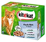 Kitekat Katzenfutter Fisch-Box in Sauce, 48 Beutel (4 x 12 x...