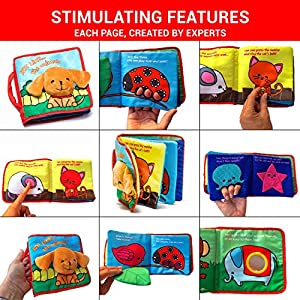 Soft Cover Book for Babies & Toddlers | Durable Fabric Activity Books | Educational Toy | Perfect Baby Shower Gift for Boys & Girls | Includes Bonus eBook & Luxury Gift Box by ToBeReadyForLife®