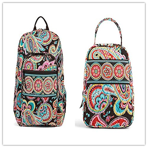 Vera Bradley Campus Backpack and Lunch Bunch Parisian Paisley