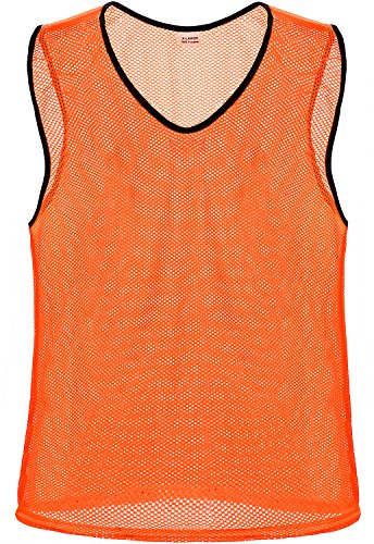 Nylon Mesh Scrimmage Team Practice Vests Pinnies Jerseys for Children Youth Sports Basketball, Soccer, Football, Volleyball