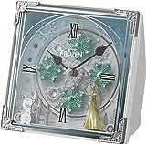 アナと雪の女王/Disney(リズム時計) アナと雪の女王の世界観を《からくり時計》に。からくり置時計/アナと雪の女王 白色 4RH784MA03
