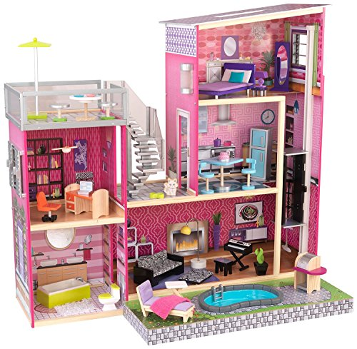 KidKraft-Girls-Uptown-Dollhouse-with-Furniture