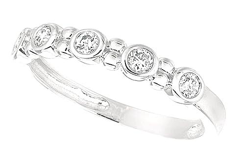 Diamond 0.25 carat round brilliant diamond white gold 14K ring band jewelry