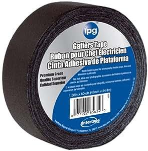 Intertape Polymer Group 5638 Vinyl Impregnated Cloth Gaffers Tape, 1.88-Inch x 60-Yard, Black