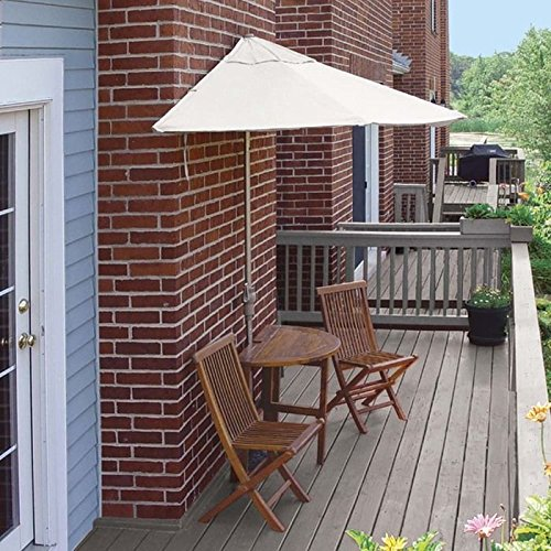 Awardpedia custom cast half canopy patio market umbrella for Natural terrace