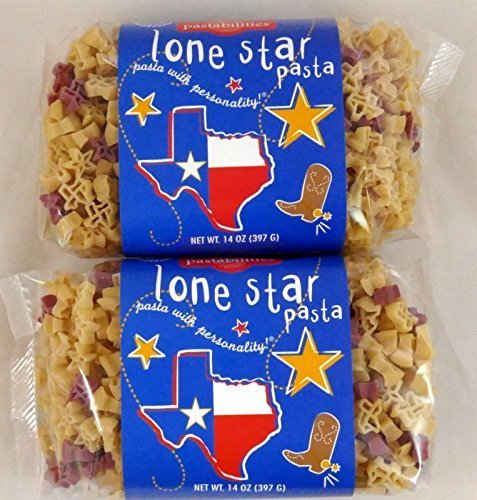 Lone Star Pasta Stars and Texas State Shaped Pasta - 2 Pack (Grand Gourmet Pasta compare prices)