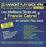 CD Karaok Play-Back KPM Vol.11 Francis Cabrel