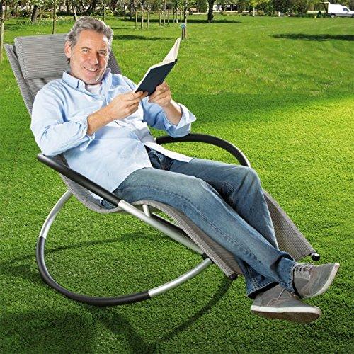 Relax-Gartenliege, grau-kariert, Aluminium-Gestell, 155 x 98 x 84 cm online bestellen