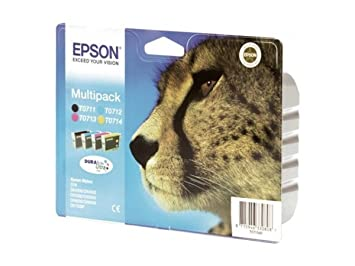 Epson Stylus DX 4450 (T0715 / C 13 T 07154010) - original - Inkcartridge multi pack (black, cyan, magenta, yellow)