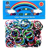 Colorful Loom Bands 300 MULTI-COLOR POLKA DOT Rubber Bands with 'S' Clips